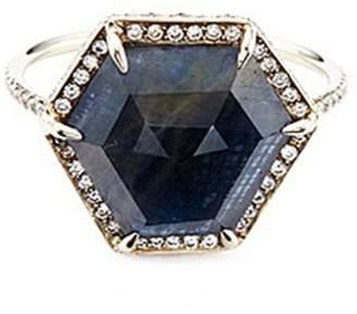 Monique Péan 'Atelier' sapphire18k recycled white gold ring