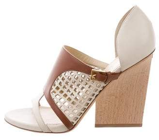 Maiyet Perforated Leather Sandals