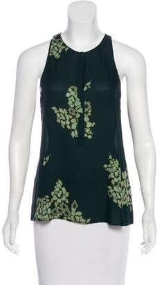 A.L.C. Floral Print Silk Sleeveless Top