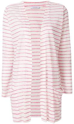 Cruciani striped longline cardigan