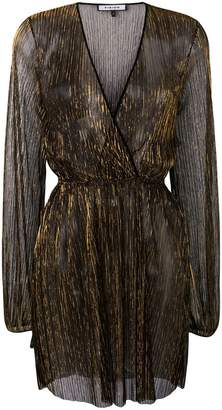 Fisico sheer metallic dress