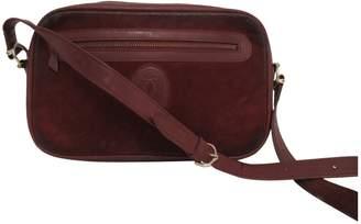 Cartier Vintage Burgundy Suede Handbag