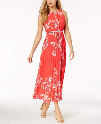 Jessica Howard Petite Belted Printed Maxi Dress
