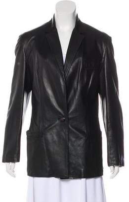Gianni Versace Vintage Leather Blazer