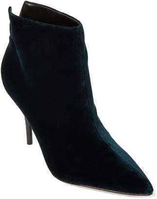 Marc Fisher Dark Green Fenet Velvet Ankle Booties