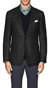 Canali Men's Plaid Wool Twill Two-Button Sportcoat - Olive