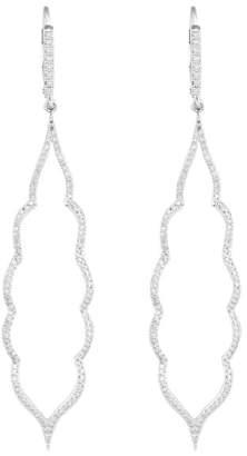 Jordan Scott Design Elongated Micro Pave Earrings