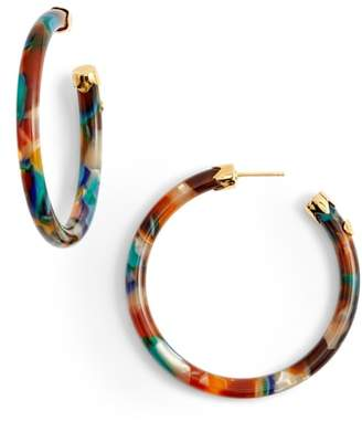 Gas Bijoux Rainbow Mix Open Hoop Earrings