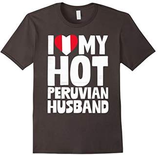 I Love My Hot Peruvian Husband T-Shirt for Couples