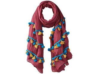 Bindya Pom Pom Tassel Mix Scarf Scarves