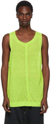 Robert Geller Green Knit Tank Top