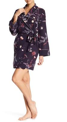Midnight Bakery Floral Satin Robe