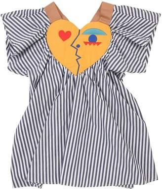 Striped Cotton Poplin Dress
