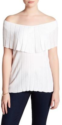 Cullen Flutter Sleeve Pointelle Shirt $126 thestylecure.com