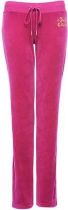 Juicy Couture Velour Geo Crown Bootcut Del Rey Pant
