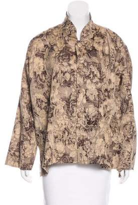 eskandar Patterned Casual Jacket