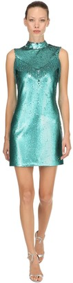 VIVETTA Sequined Mini Dress W/ Fringes