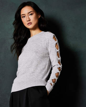 Ted Baker DANIKAA Cut-out bow sleeve sweater
