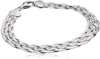 Italian Sterling Six-Strand Braided Herringbone Bracelet