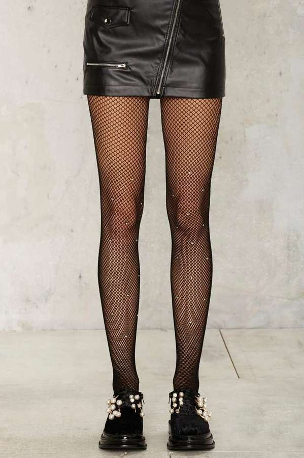 Factory Diamond in the Rough Fishnet Tights