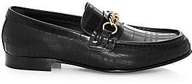 Burberry Men's Moorley Chain Leather Loafers