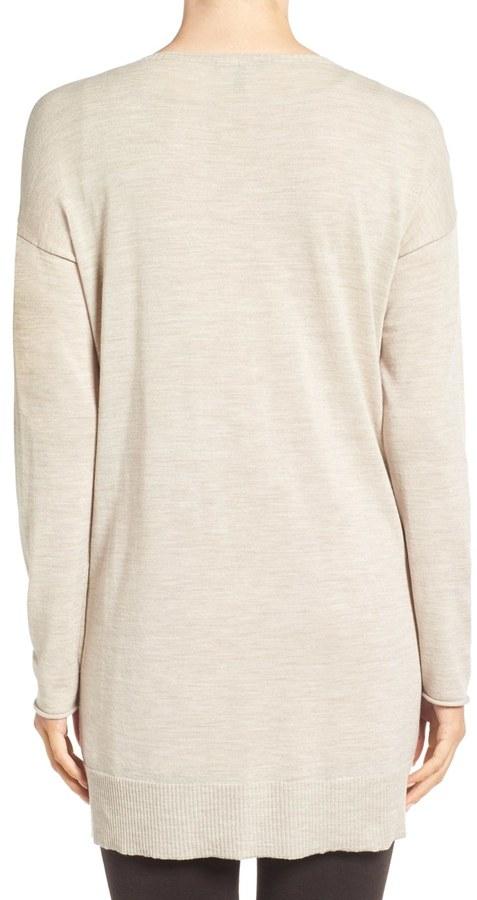 Eileen Fisher Featherweight Merino Wool Sweater 14
