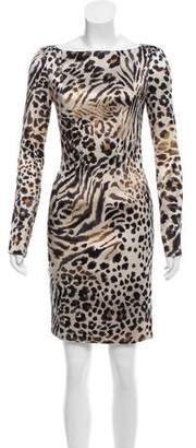 Blumarine Printed Satin Dress