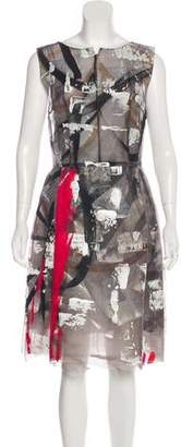Dolce & Gabbana Hand-Painted Silk Dress w/ Tags