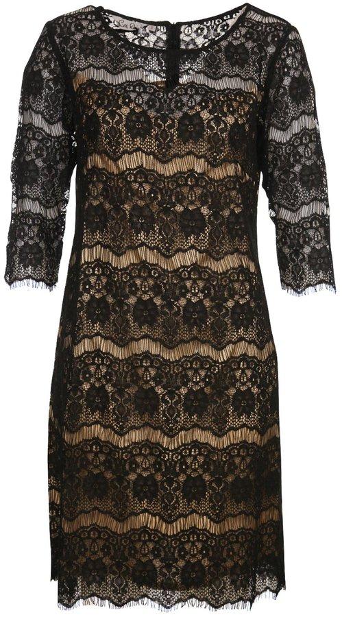Silk Diva Lace Silk Lines Dress