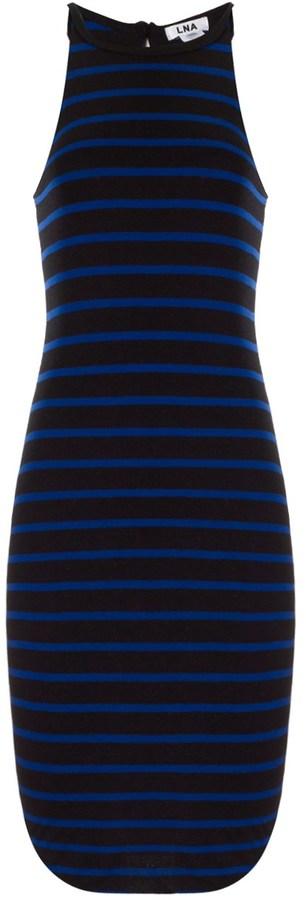 LnA Blue Stripe Elise Dress