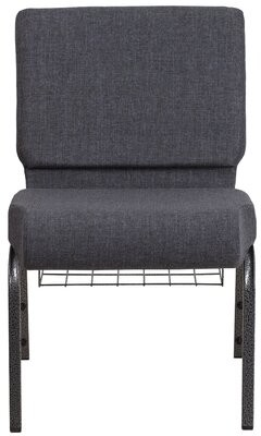 Ebern Designs MacArthur Contemporary Dark Gray Guest Chair Ebern Designs