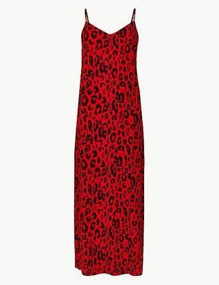 Marks and Spencer Animal Print Slip Maxi Dress