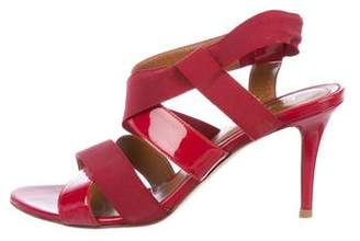Fendi Patent Leather Slingback Sandals