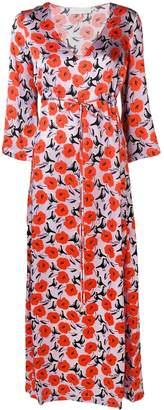 L'Autre Chose floral satin maxi dress