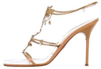 Giuseppe Zanotti Floral Chain-Link Sandals