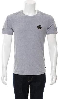 Philipp Plein Textured Scoop Neck T-Shirt