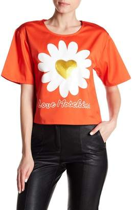 Love Moschino Sequin Flower Tee