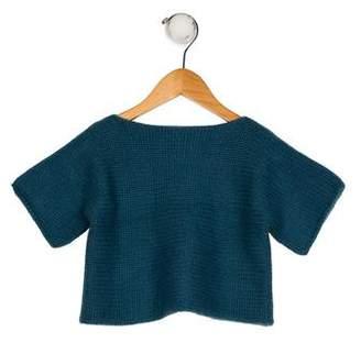 Hermes Girls' Knit Short Sleeve Sweater