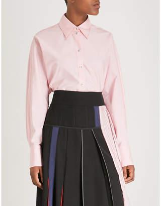 Sportmax Contrast-stitch cotton-poplin shirt