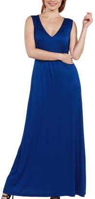 24/7 Comfort Apparel Vneck Maxi Dress