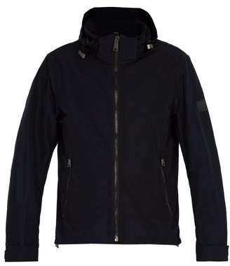 Burberry Hooded Windbreaker Jacket - Mens - Navy