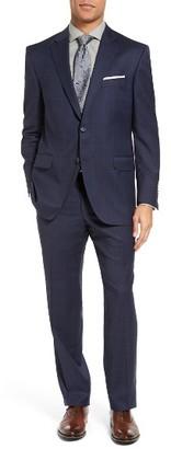 Men's Peter Millar Classic Fit Windowpane Wool Suit $795 thestylecure.com