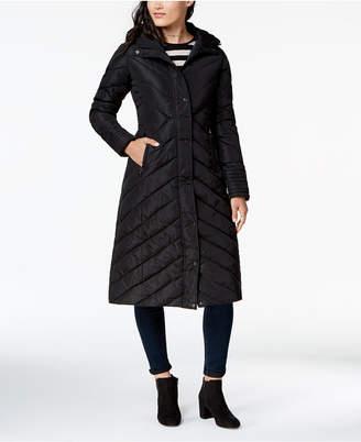 Madden-Girl Juniors' Hooded Maxi Puffer Coat