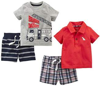 Carter's Simple Joys by Baby Boys' 4-Piece Playwear Set