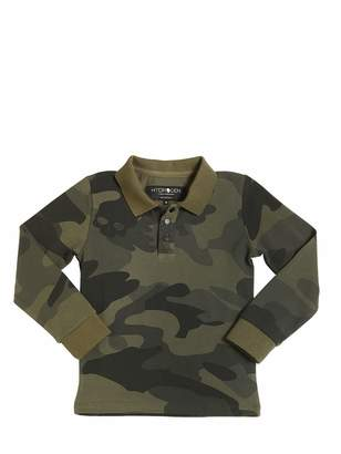 Hydrogen Kid Camo Printed Stretch Cotton Piqué Polo