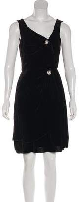 Anna Sui Bow-Accented Velvet Dress