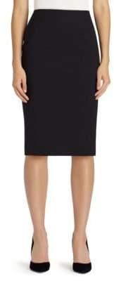 Lafayette 148 New York Stretch Wool Skirt