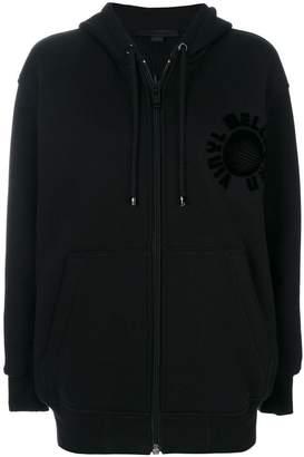 Alexander Wang embossed oversized zip hoodie