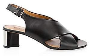 Clergerie Women's Adrienne Criss-Cross Leather Sandals