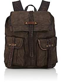 Campomaggi Men's Canvas Backpack-Gray